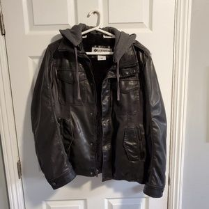 Columbia Faux Leather sherpa lined jacket